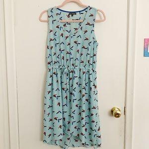 Blue bird sundress